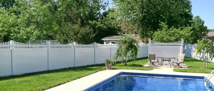 all vinyl fence, vinyl fence, iron fence, wood fence